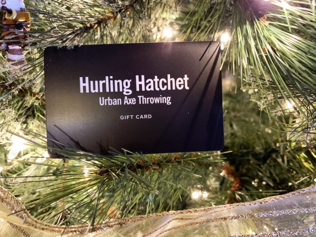 Hurling Hatchet Urban Axe Throwing Gift Card